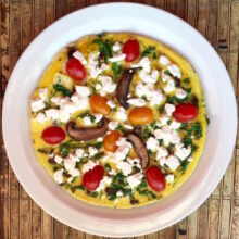 Arugula and Portobello and Feta Frittata | Living Low Carbs Recipes