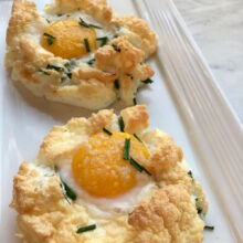 Cloud Eggs with Asiago Cheese and Chives 5-Ingredient Recipe