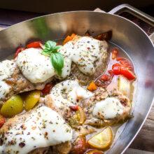 Mozzarella Chicken Thighs One-Skillet Recipe
