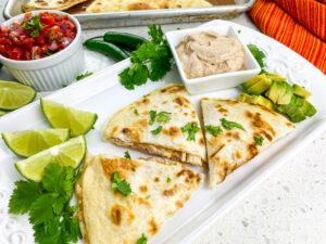 Rotisserie Chicken Quesadillas with Fresh Pico de Gallo