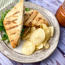 Grilled Chicken and Brie Panini