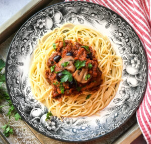 Chicken Cacciatore with Spaghetti
