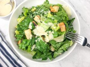 Classic Caesar Salad with Homemade Dressing