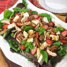 Instant Pot Chicken Salad with Strawberries and Feta and Pecans