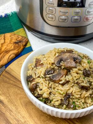Instant Pot Rustic Mushroom Rice