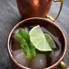 Classic Moscow Mule with Fresh Ginger Simple Syrup