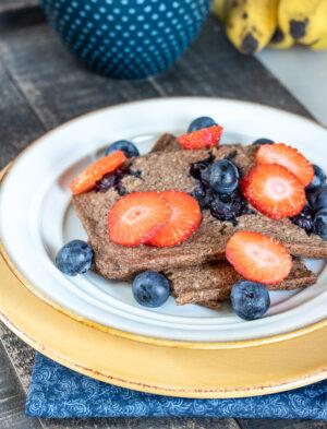 Sheet Pan Blueberry Pancakes