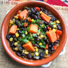 Black Bean and Sweet Potato Soup   One Pot Comfort Cooking