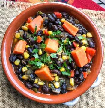 Black Bean and Sweet Potato Soup | One Pot Comfort Cooking