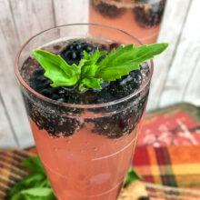 Sparkling Blackberry Basil Cocktail | Summer Entertaining