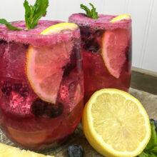 Sparkling Blueberry Maple Lemonade | Summer Entertaining
