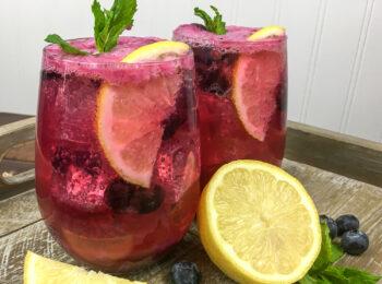 Sparkling Blueberry Maple Lemonade   Summer Entertaining
