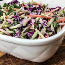 Super Easy Crisp and Crunchy Broccoli Slaw | Ketogenic Recipe