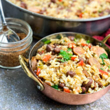 Cajun Red Beans and Rice Skillet | One-Skillet Recipe