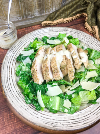 Chicken Caesar Salad with Homemade Dressing   Soups and Salads