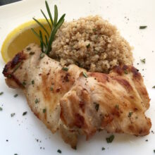 Rosemary Lemon Boneless Chicken Thighs | 5-Ingredient