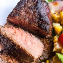 Herb Mustard Sirloin Steak | Quick and Easy