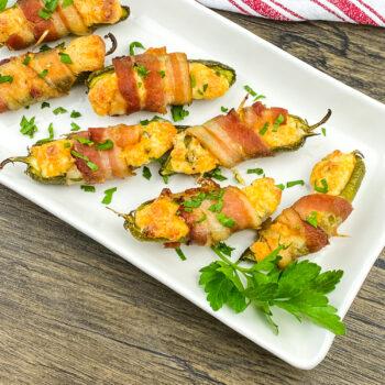 Bacon Wrapped Jalapeño Poppers | Amazing Appetizer