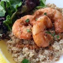 Lemon Garlic Jumbo Shrimp | 5-Ingredient