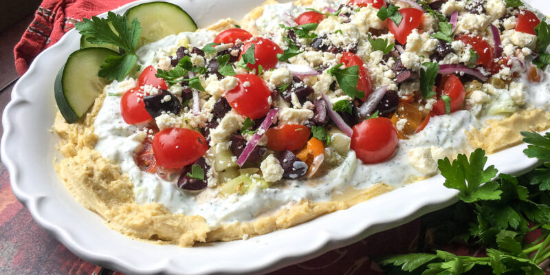 Mediterranean Layer Dip | Summer Entertaining (Drinks and Appetizers)