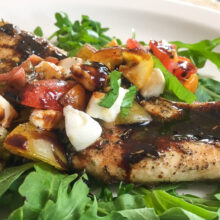 Mozzarella Butterflied Chicken Breasts with Balsamic Glaze | Quick and Easy