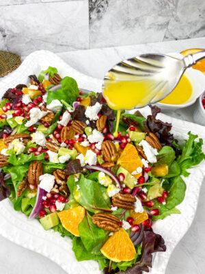Orange Pomegranate Salad with Orange Champagne Vinaigrette