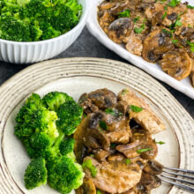 Pork Scallopini with Mushroom Gravy | Healthy 30-Minute Meal