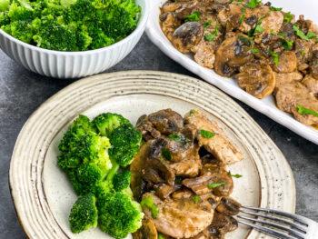 Pork Scallopini with Mushroom Gravy   Healthy 30-Minute Meal