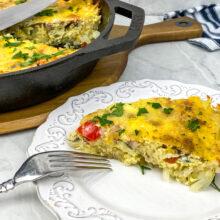 Potato Crusted Frittata | One-Skillet Recipe