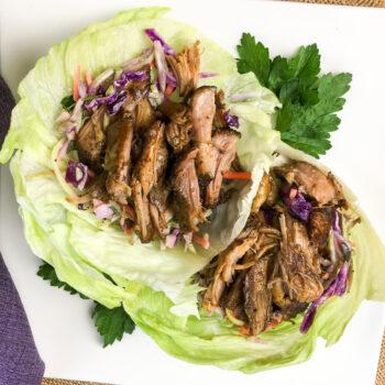Slow Cooker Pulled Pork Lettuce Wraps | Ketogenic Recipe