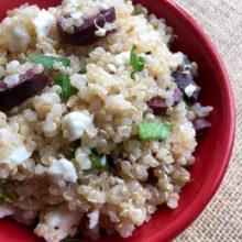 Mediterranean Inspired Quinoa Salad | 5-Ingredient