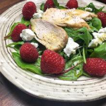 Raspberry Chicken Mixed Green Salad | 5-Ingredient Recipes