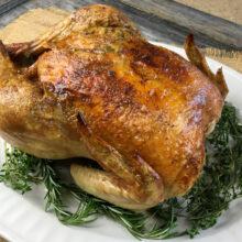 Garlic Herb Whole Roasted Chicken | Ketogenic Recipes