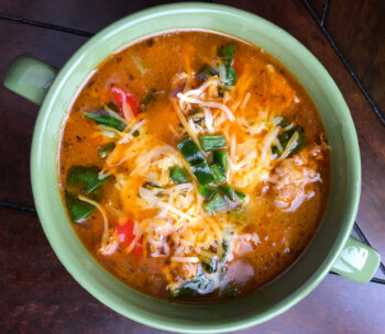 Sausage Soup with Peppers and Spinach | Ketogenic Recipes