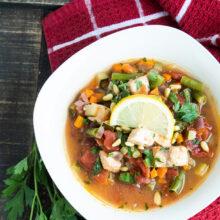 Sicilian Halibut Fish Stew
