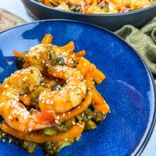 Spicy Honey Garlic Shrimp and Broccoli Skillet | One-Skillet Recipe