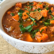 One Pot Spicy Pork and Sweet Potato Stew | Quick and Easy