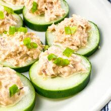 Spicy Tuna Cucumber Bites