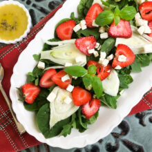 Strawberry Fennel Salad with Homemade Vinaigrette   Quick and Easy