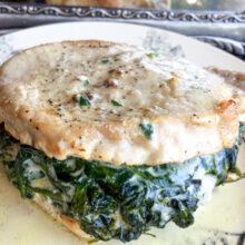 Creamed Spinach Stuffed Pork Chops | Ketogenic Recipes
