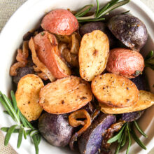Tri-Color Roasted Rosemary Potatoes
