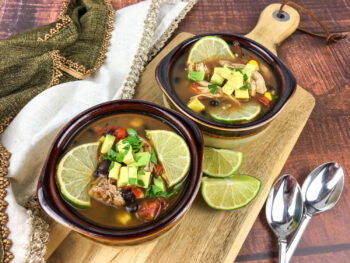 Tex-Mex Chicken and Black Bean Soup | Soups and Salads