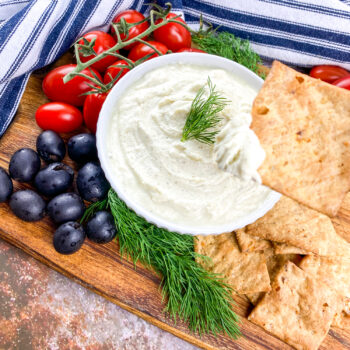 Whipped Feta Dip with Black Olives and Cherry Tomatoes | Amazing Appetizer