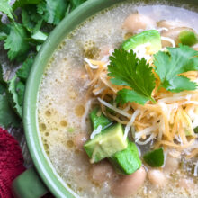 Slow Cooker White Chicken Chili | One Pot Comfort Cooking