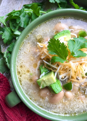 Slow Cooker White Chicken Chili   One Pot Comfort Cooking