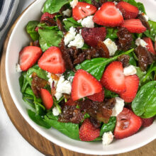 Wilted Spinach Salad with Hot Bacon Dressing | Soups and Salads
