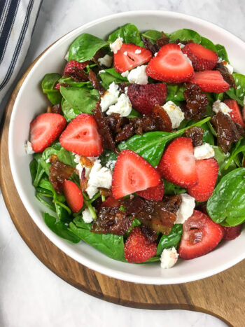 Wilted Spinach Salad with Hot Bacon Dressing   Soups and Salads