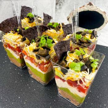 7 Layer Dip Cups | Cocktails and Mocktails and Appetizers Recipes