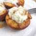 5-Ingredient Baked Balsamic Peaches with Fresh Maple Whipped Cream | Monthly Kitchen-Tested Recipes