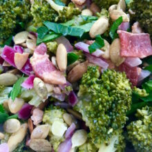 Mayo-Free Broccoli Bacon Salad with Toasted Pumpkin Seeds | Living Low Carbs Recipes